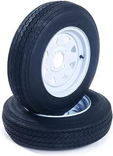 Set of 2 Trailer Tires & Rims 5.30-12 530-12 5.30x12 12