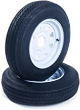 MOTOOS 5.30-12 Trailer Tire /& Wheel 4 Lug 10 PLY P811 White Rim 5.30 x 12 Tires 5.30 12 Set of 2 Tire