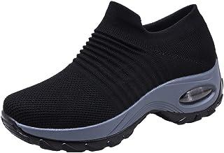 686b5eb8837 Zapatos Deporte Mujer Zapatillas Deportivas Correr Gimnasio Casual Zapatos  para Caminar Mesh Running Transpirable Aumentar Más