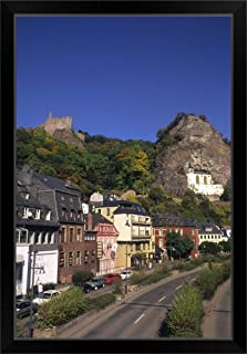 CANVAS ON DEMAND Germany, Idar Oberstein, Church in The Rock in Idar Oberstein Germany Black Framed Art Print, 2.