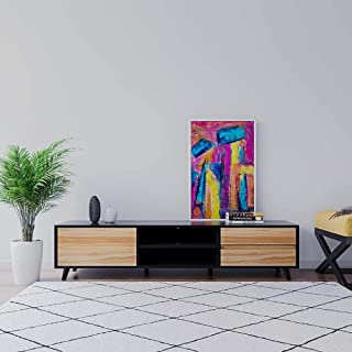 180cm TV Stand Entertainment Unit Stand Cabinet with Shelves and Drawers - Black