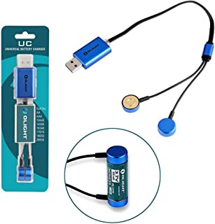 Olight UC Universal Magnetic USB Charger for Li-ion/IMR/INR/ICR 18650/16340/14500/26650 Ni-MH/Ni-Cd AA/AAA & etc Batteries