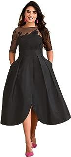 eShakti FX Tulip Dress - Customizable Neckline, Sleeve & Length