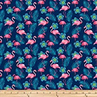 Shannon Fabrics Studio Digital Minky Cuddle Flamingo Fuchsia Fabric Fabric by the Yard