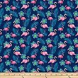 Shannon Fabrics Studio Digital Minky Cuddle Flamingo Fuchsia Fabric Fabric by the Yard