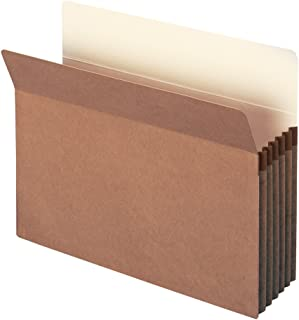 """Smead File Pocket, Straight-Cut Tab, 5-1/4"""" Expansion, Letter Size, Redrope, 10 per Box (73234)"""