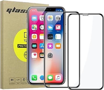Simpeak [2-Unidades] Protector de Pantalla iPhone XS iPhone X/Bubble Free/HD Clear/Protector de Pantalla de Cristal Templado Premium para iPhone X/XS