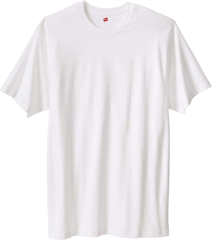 Hanes Men's Big & Tall X-Temp Cotton Crewneck Tee 3-Pack - Tall - 6XL, White