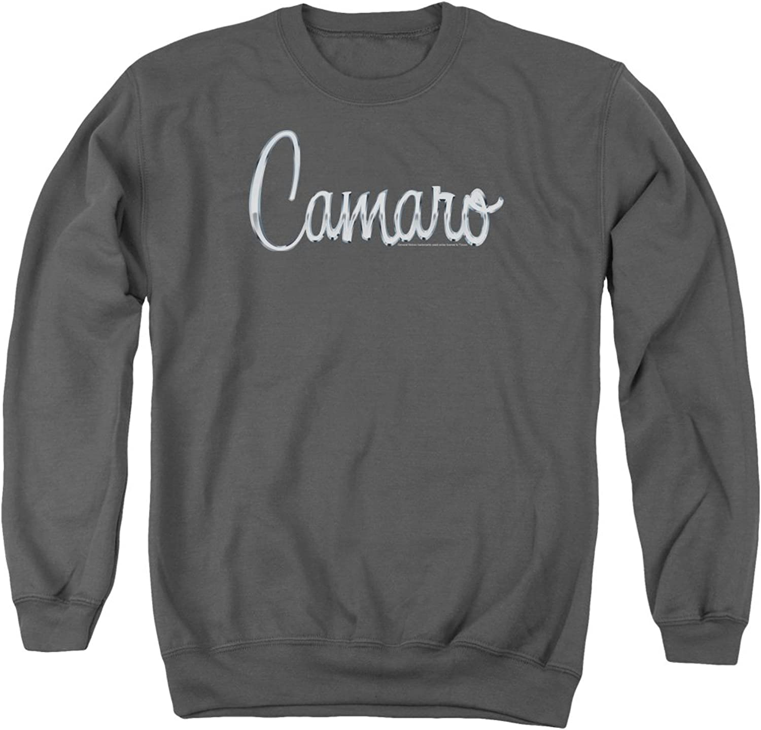 Chevy Classic Camaro Metal Mens Crew Neck Sweatshirt