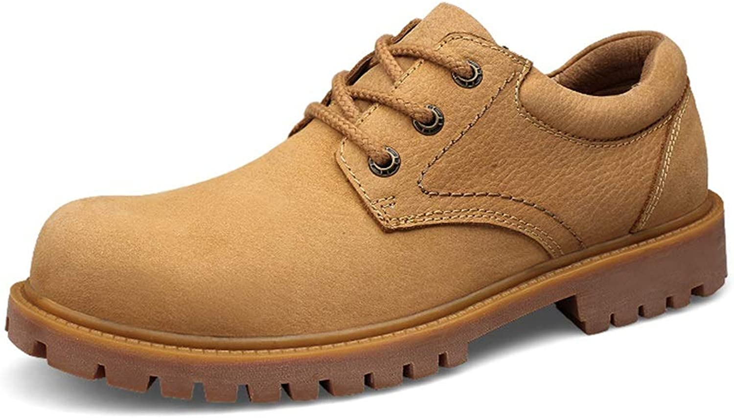 Men's Fashion Work Safety Boots for Men Antislip Low Top shoes Lace up Nubuck Leather Construction Riding Hiking shoes Work Boots,shoes
