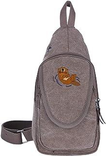 Schwimmende Brusttasche aus Segeltuch von Nutria Marina für Trekking, lässige Reisetasche für Männer und Frauen, Moosgrün