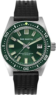 62Mas Diver Mechanical Automatic Men Watch Stainless Steel NH35 Ceramic Bezel Sunray Dial Sapphire Glass