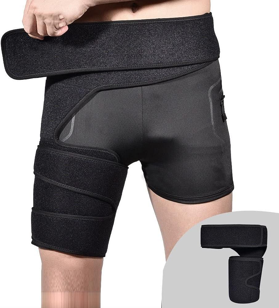 Adjustable Hip Groin Support Bandage Portable f Popular brand Max 75% OFF Compression Wrap