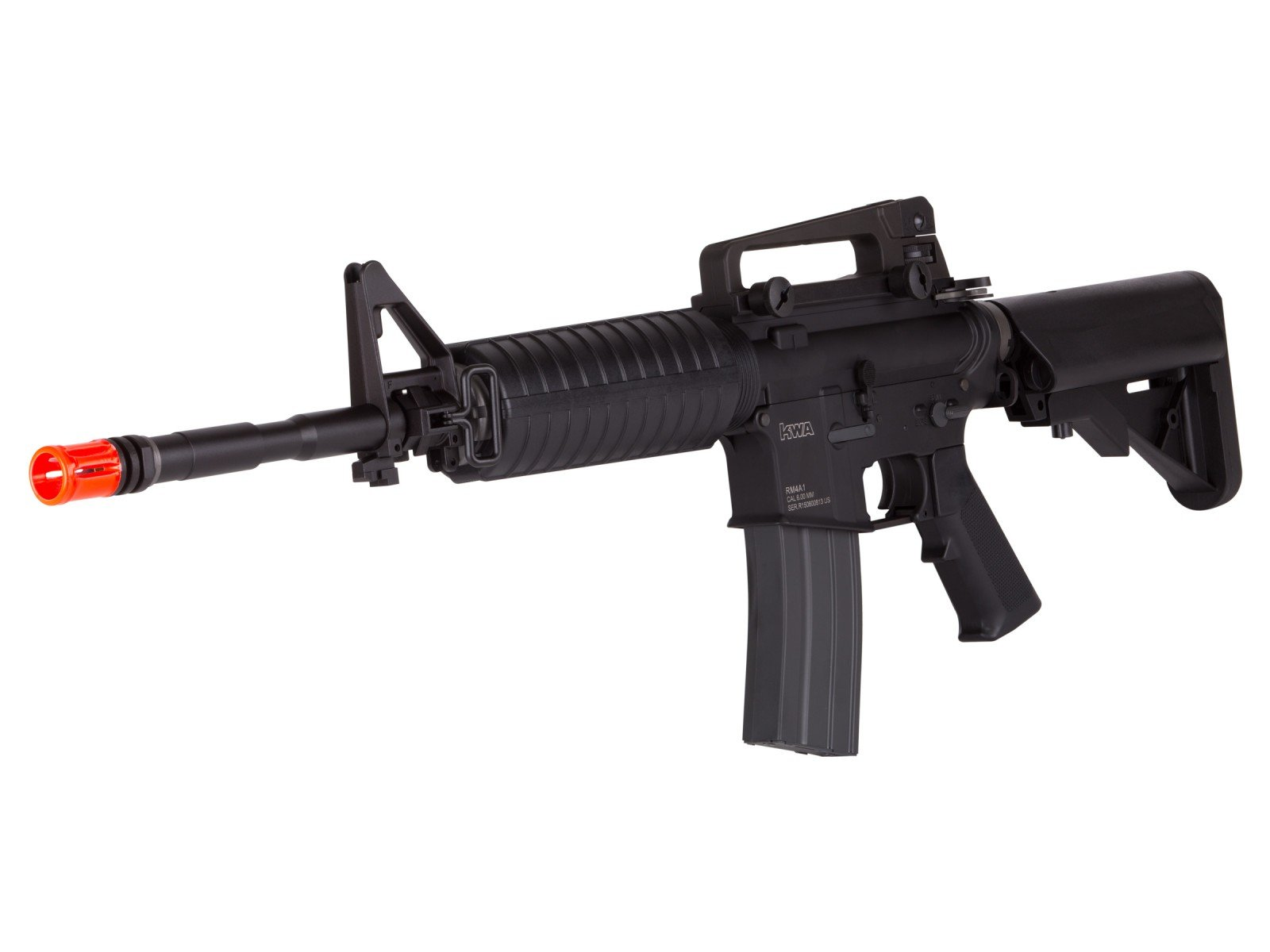Amazon Com Kwa Full Metal Rm4 A1 Electric Recoil Erg Airsoft Gun Sports Outdoors