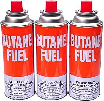 Iwatani Butane Canister 8 Oz 3 Pack