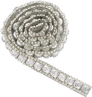 1 yard Ruban de Strass Ruban Diamant Maille, Ruban Strass de Colle à Chaud DIY pour Décoration d'Anniversaire de Mariage, ...