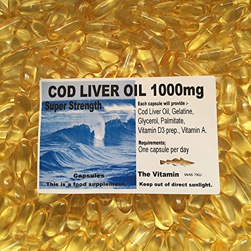 The Vitamin COD Liver Oil SuperStrength 1000mg 120 Capsules Free UK Postage (L)