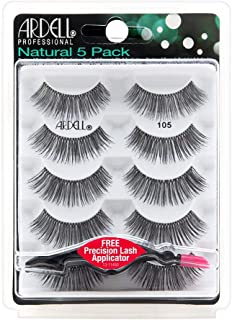 Ardell Natural Multipack Lashes - 110 Black 5 Pack + Free Precision Lash Applicator