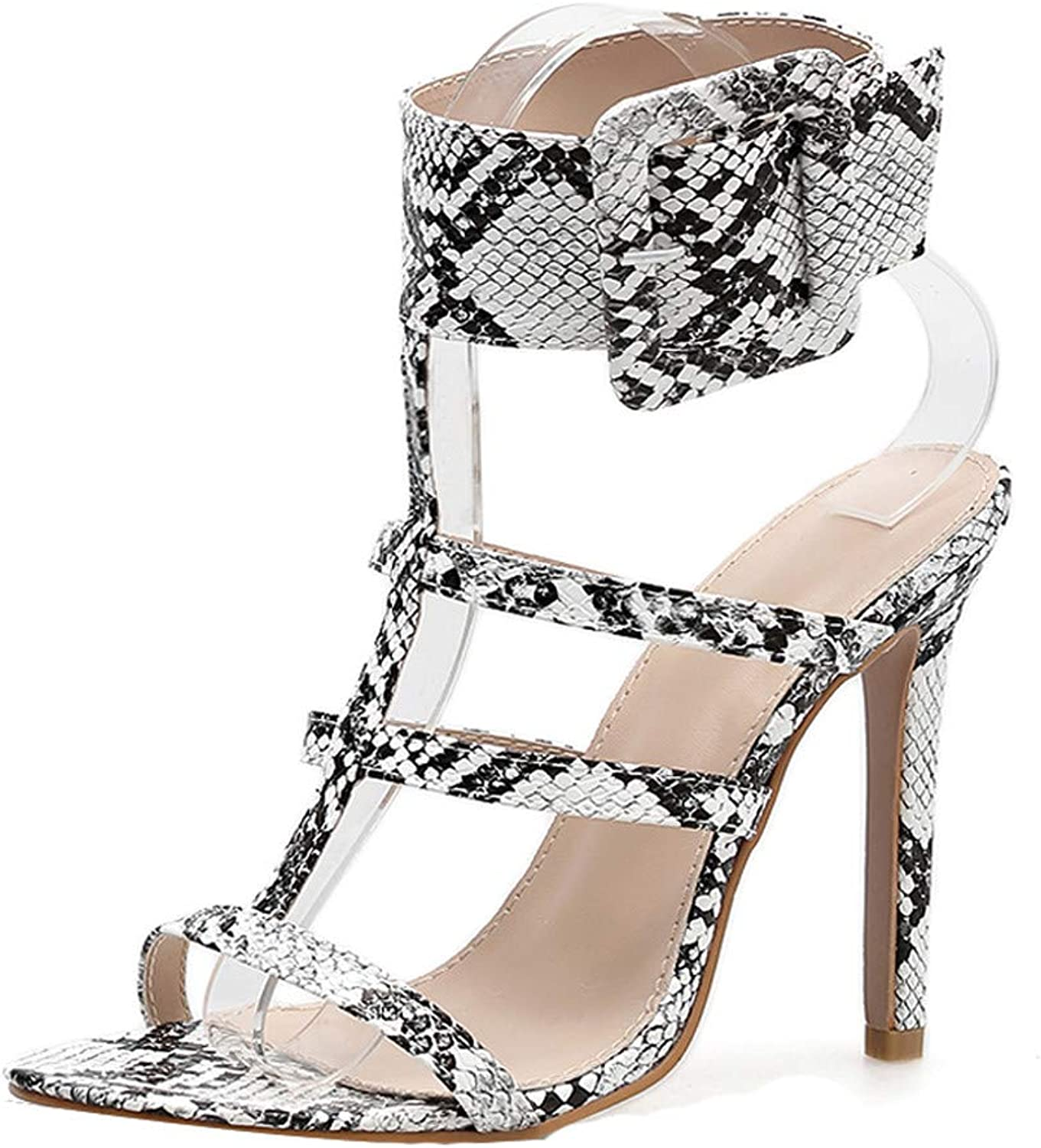 BOLUOYI 2019 High Heels for Women Fashion Women's Snake Sexy Buckle Fish Mouth shoes Non-Slip High Heel Sandals Sandals Womens Heel Wedge
