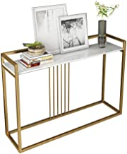 Console Table,Marble Tabletop Multipurpose Accent Furniture for Entryway Living Room Bedroom Sofa Side Table 31 × 11 × 33 ...