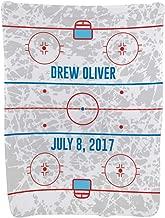 Personalized Hockey Baby & Infant Blanket   Custom Hockey Rink