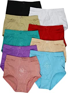 ToBeInStyle Women's 6 Pack High Rise Plain Lace Girdle Panties