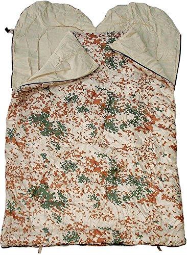 Unbekannt Sac de Couchage Double Spacieuse, Sac de Couchage pour Deux Personnes, différentes Couleurs - Camouflage Tropical