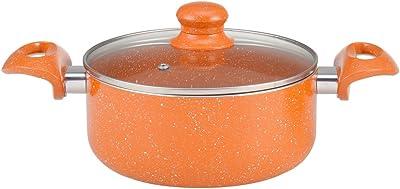 Wonderchef Tangerine Aluminum Casserole, 5 Litres/24cm, Orange