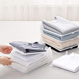 Kerocy Clothes Folder, Clothes/T-Shirt Dress Pants Towels Underwear Laundry Folding Board,Easy Tray Closet Clothes Organizer Storage, 4 Pack (4 Pack Large)