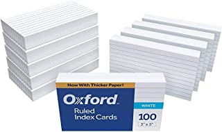 """Oxford Ruled Index Cards, 3"""" x 5"""", White, 2000 Cards, (20 Packs of 100)"""