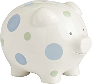 Beginnings by Enesco Big Polka Dot Piggy Bank, 7 inches, Blue