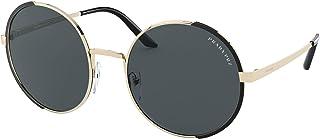 Prada - PR59XS Pale Gold/Matte Black Round Women Sunglasses - 54mm