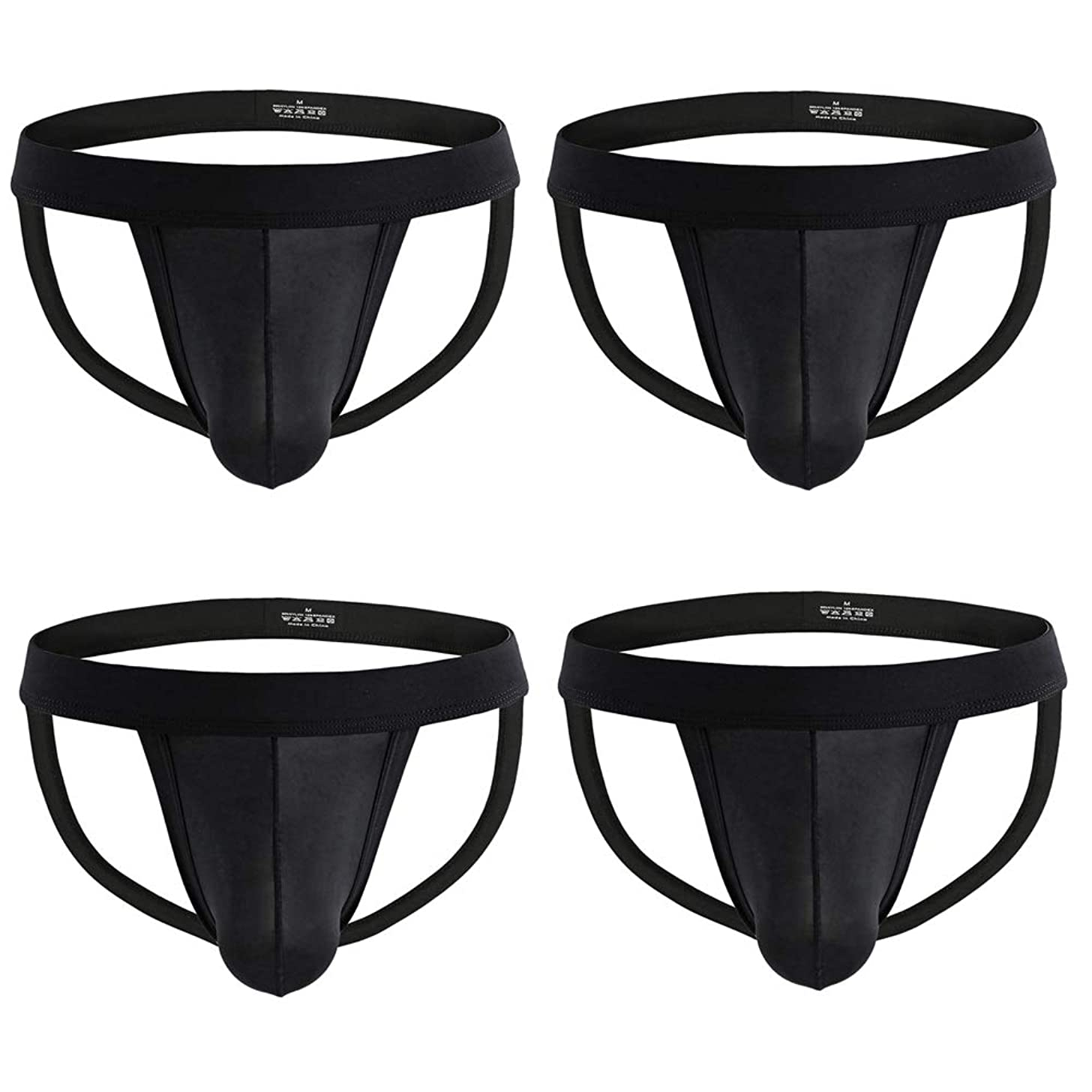 Nightaste Men Jockstrap Underwear Athletic Supporter Performance Breathable G-String Thong Undies