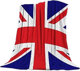 Advancey The Union Jack Flag Flannel Fleece Throw Blanket Lightweight Cozy Bed Sofa Blankets Super Soft Fabric,39x49 inch