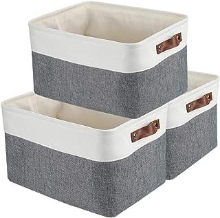 MANGATA Ensemble de Boîte de Rangement en Tissu extra large, Panier de Rangement pliable pour vêtements, pour linge de jou...