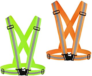 Chiwo Reflective Vest Running Gear 2Pack, High Visibility...