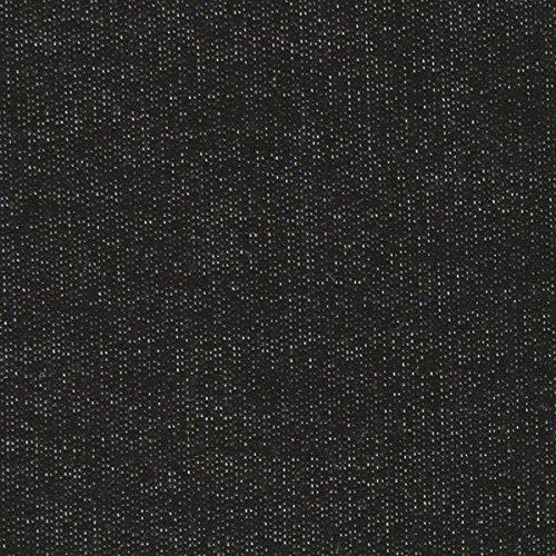 Fabulous Fabrics French Terry Sommersweat Viskose Melange – schwarz — Meterware ab 0,5m — zum Nähen von Hauskleidung, Pullover und Jacken