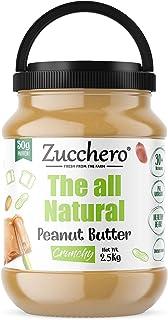 Zucchero All Natural Peanut Butter, Crunchy, 2.5Kg - Unsweetened | 100% | Protein: 30G