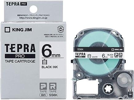 KING JIM Proテープカートリッジ 白ラベル 6mm SS6K