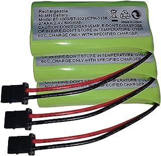 Paquete de 3 baterías inalámbricas Ni-MH de 2,4 V 2 AAA 900 mAh para Uniden BT1008 BT-1008 BT1016 BT-1021 BT-1021 WITH43-269 WX12077 Sanyo CAS-D6325 CASD6325 CASD6325 5 Lenmar C BBT1008 CB-BT1008