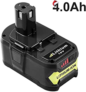 Gatopower 4.0Ah Replacement for Ryobi 18V Lithium Battery P102 P103 P105 P107 P108 P109..
