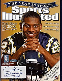 LaDainian Tomlinson Signed Sports Illustrated Magazine San Diego Chargers 31 TD's + 2 Passing TD's = 2006 MVP #/21 UDA Stock #74262 - Autographed NFL Football Memorabilia