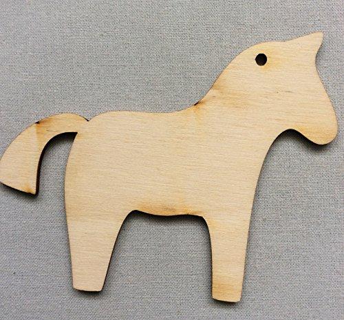 WoMa Kreativ 10x Pony Pferd Glück Tier blank Form Holz Basteln Bemalen Aufhängen Dekoration