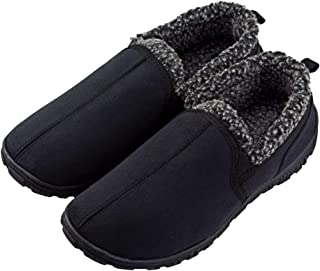 LULEX Moccasin Slippers for Men Non Skid Memory Foam House Shoes