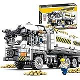 DengDD Stem Ensamblado Bloques De Construcción Juguetes DIY Ingeniería Earth Truck Model Mini Car Transport Truck Toy Set Niños Y Jóvenes Adultos 665PCS