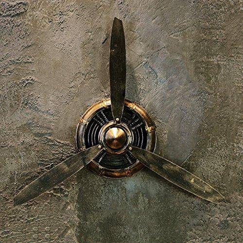 restaurant decoraties LOFT retro industriële stijl zwart Vliegtuigen propeller Decoraties ijzer Muur opknoping Wanddecoratie Hanger Wanddecoratie L*B*H 67 * 7 * 53cm wanddecoratie