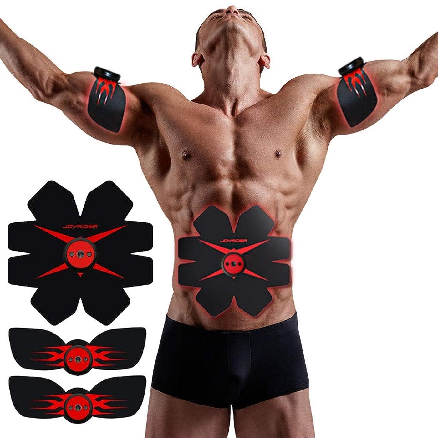 めんどりルーチン速記EMS AbsトレーナーAbベルト、腹部調色ベルト、腹筋刺激装置、ABSマシンAbベルト調色ジムワークアウトマシン用男性&女性