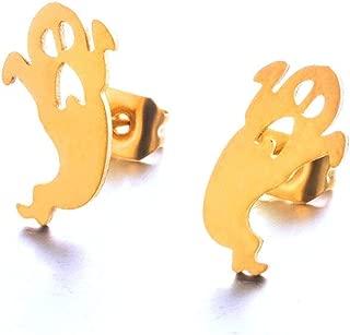 Stud Earrings for Women Punk Pacman Halloweens Pumpkin Ghost Wing Earring Jewelry Brincos Steampunk Bijoux Wholesale