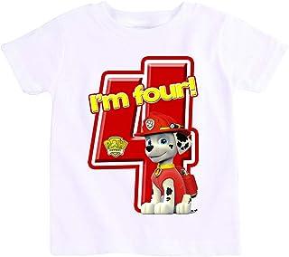 Paw Patrol Marshall T-Shirt For Boys - 4 Years, White