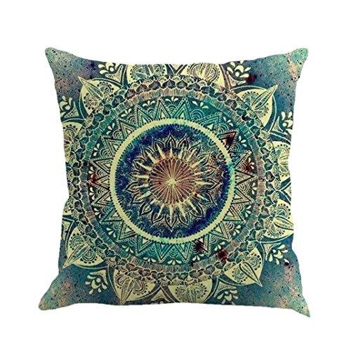 Vovotrade Kussensloop, New Bohemian etnische stijl, geometrie schilderijen, linnen, kussensloop, eenvoudig decoratief kussen, valprint, sofa Home decor 45 cm * 45 cm / 18 * 18